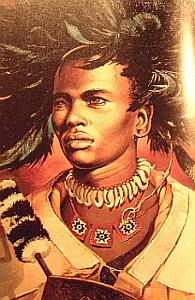 By 1818, a new leader, Shaka, gained authority among the Nguni people. This leader created a formidable military force, which was organized on lineage. Shaka was assassinated in 1828.