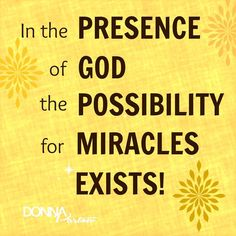Where to look for miracles  #WEU #DonnaPartow #Power