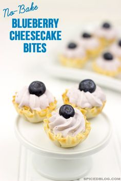 No Bake Blueberry Cheesecake Bites with Philadelphia Cream Cheese @FoodBlogs