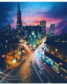 San Francisco at night by @hellasanfrancisco by San Francisco Feelings