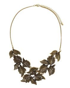 Leaf #necklace party  via @Roposo #fashion #party #jewellery