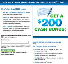 $200 Chase Premier Plus Checking Account Bonus.