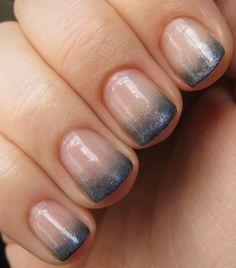 silver gradation of gel-nails polish