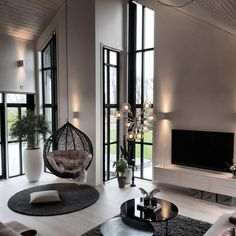 Beautiful Scandi Living Room by . - Home Design Inspiration Scandi Living Room, Home Living Room, Interior Design Living Room, Interior Livingroom, Cozy Living, Living Room Decor Elegant, Nordic Interior Design, Luxury Bedroom Design, Living Room Goals