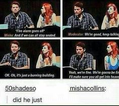 Misha can make sure you get into heaven