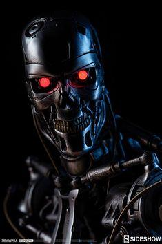 Terminator Terminator Endoskeleton Maquette by Sidesho Terminator Tattoo, T 800 Terminator, Terminator Movies, Fiction Movies, Sci Fi Movies, Science Fiction, Scary Movie Characters, Scary Movies, Terminator Endoskeleton