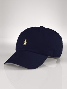 27bf1252b2e Signature Pony Hat - blue with white stitching