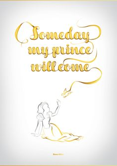 Someday my prince will come - Snow White - Disney Typography Series by Vanessa Fahy, via Behance Walt Disney, Disney Magic, Disney Art, Disney Pixar, Disney Girls, Disney Love, Disney Stuff, Disney Typography, Typography Poster
