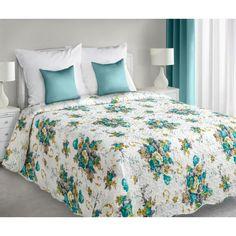 Oboustranné bílé přehozy na manželskou postel s květinami - dumdekorace.cz Comforters, Blanket, Bed, Furniture, Design, Home Decor, Home, Creature Comforts, Quilts