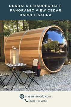 Enjoying the view while relaxing in a sauna makes the experience calming yet energizing. And that's just what you get with the Panoramic View Barrel Sauna! PLUS, get the Elite Sauna Accessories Package for FREE when you purchase any Dundalk Sauna this month! Details here.