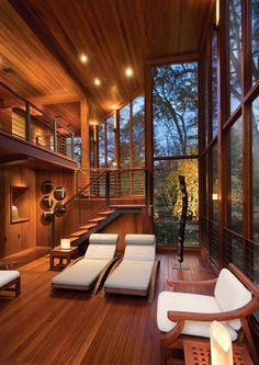 behagliche atmosphäre schaffen wohnzimmer holzgestaltung eingebaute beleuchtung