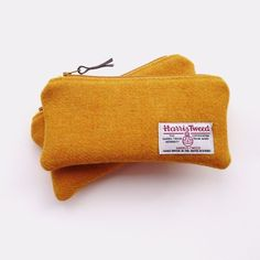 – The Joy of Mustard by Hofficraft Harris Tweed, Jewelry Case, Mustard, Sunglasses Case, Addiction, Stationery, Handmade Items, Pencil, Pouch