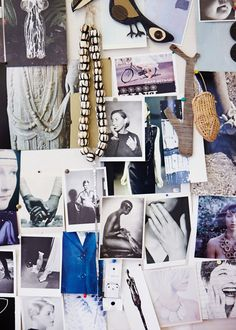 Detail from Louise Olsen's studio pinboard. Photo - Sean Fennessy