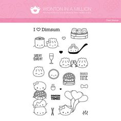 Clear Stamps  I Love Dimsum Planner Stamps