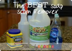 Soap scum remover...with corn starch. This looks pretty good..... I must try it. I think you can omit the corn starch if you like.