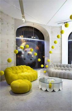 ConceptBySarah: Eine Begegnung mit Sacha Lakic, Designer Roche Bobois  Roche Bobois - Sofa Bubble, designed by Sacha Lakic