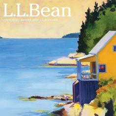 L.L.Bean Summer 2014 catalog cover art by Maine... | WITH A BEAN SLANT