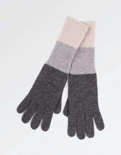 Cashmere Colour Block Gloves