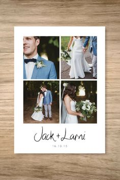 It's so hard to pick just one photo for your wedding thank you card so this is perfect!