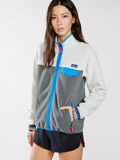 Patagonia Grey Full-Zip Snap-T Jacket - Without Walls