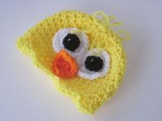 10 Adorable Baby Chick Crochet Patterns for Easter: Easter Chick Hat Free Crochet Pattern