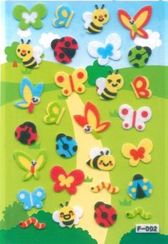 Korean Scrapbook Felt Stickers set 3 Cute by scrapbooksupply