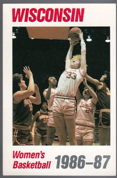 1986-87 WISCONSIN BADGERS WOMENS BASKETBALL SCHEDULE FREE SHIPPING #Schedule