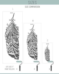 StenCilit  Decorative Scandinavian Ethnic Feathers Wall Stencils Walls, Wallpaper look and easy Home Decor. Scandinavian design means quality by all means.