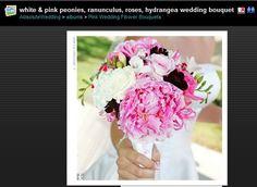 Wht & Pink Peonies, Ranunculus, Roses, Hydrangea... LOVE