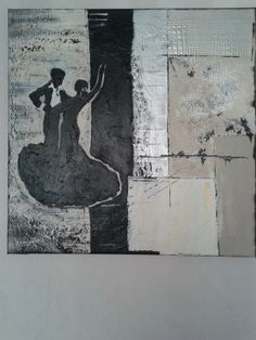 Abstract tango mixed media