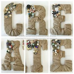 76 Crafts To Make and Sell - Easy DIY Ideas for Cheap Things To Sell on Etsy, Online and for Craft Fairs. Make Money with These Homemade Crafts for Teens, Kids, Christmas, Summer, Mother's Day Gifts. |  Vintage Jewel Burlap Wall Letters  |  diyjoy.com/crafts-to-make-and-sell