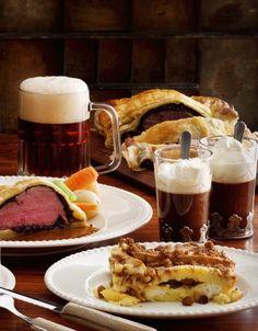 Mad som på en god, engelsk pub Irish Coffee, Waffles, French Toast, God, Breakfast, Dios, Morning Coffee, Waffle, Allah