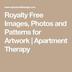 Royalty Free Images, Photos and Patterns for Artwork | Apartment Therapy