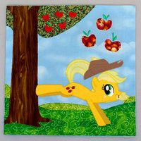 Applejack Quilt Square by thurinus