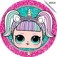 Toppers LOL Surprise – Vários Modelos Grátis para Baixar e Imprimir – Cumpleaños Cupcake Toppers Free, Leelah, Doll Party, Lol Doll Cake, Lol Dolls, Bottle Cap Images, Unicorn Party, Diy And Crafts, Printables