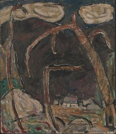 """The Dark Mountain, No. 1,"" Marsden Hartley, 1909, oil on commercially prepared paperboard, 14 x 12 1/8"", The Metropolitan Museum of Art."