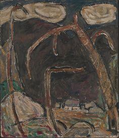 Marsden Hartley (American, 1877–1943). The Dark Mountain, No. 1, 1909. The Metropolitan Museum of Art, New York. Alfred Stieglitz Collection, 1949 (49.70.47) #Halloween