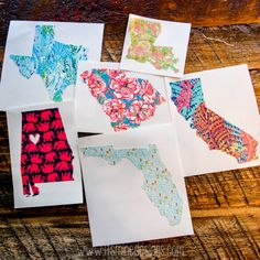 This listing is for a custom, Lilly Pulitzer-inspired state sticker in your choice of size, monogram style, and pattern. You choose the state! We