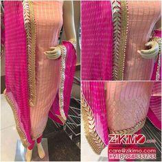 Sakshi Indian Designer Peach Shalwar Suit Salwar kameez New Wedding Punjabi Suits Designer Boutique, Boutique Suits, Indian Designer Suits, Dress Indian Style, Indian Dresses, Indian Outfits, Indian Wear, Salwar Suits Party Wear, Punjabi Salwar Suits