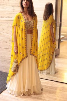 60 GM Georgette Party Wear Lehenga Choli In Cream and Yellow Colour Buy Best price latest designer Georgette Party Wear Lehenga Choli In Cream and Yellow Colour online in india Cash on Delivery Available! Indian Attire, Indian Wear, Indian Outfits, Party Wear Indian Dresses, Dress Party, Indian Diy, Indian Ethnic, Indian Dresses For Girls, Indian Long Dress