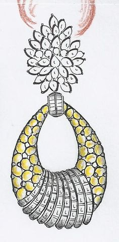 er India Jewelry, Jewelry Art, Antique Jewelry, Basic Sketching, Ring Sketch, Flat Drawings, Jewelry Design Drawing, Terracotta Jewellery, Jewelry Illustration