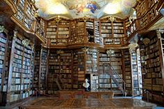 La Biblioteca dell' Abbazzia di St Florian, Austria. From Libri antichi online-Studio Bibliografico Apuleio.