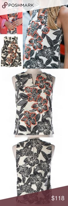 Selling this NEW Notched shell in embellished Polynesian floral on Poshmark! My username is: reneecali. #shopmycloset #poshmark #fashion #shopping #style #forsale #J. Crew #Tops