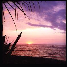 Beautiful sunset in Kona