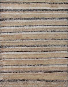 Turkish Rug  Contemporary, Shag, Stripe, Hemp, Wool, Fur, New by Mansour