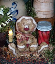 Patti's Ratties Primitive Raggedy Gingerbread Doll Pattern 626 | eBay