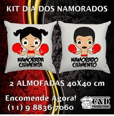 Kit dia dos Namorados. 02 almofadas 40x40cm.. Produção em 03 dias úteis.  #diadosnamorados #caneca #almofada #amor #presente #namorado #namorada #love