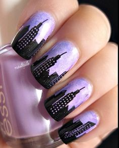 New York City nails by nailtale of Instagram