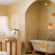 Moroccan-style bathroom recess | Bathroom shelving ideas - 10 of the best | housetohome.co.uk