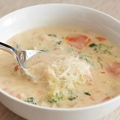 Chicken Vegetable Alfredo Soup - The Pampered Chef®